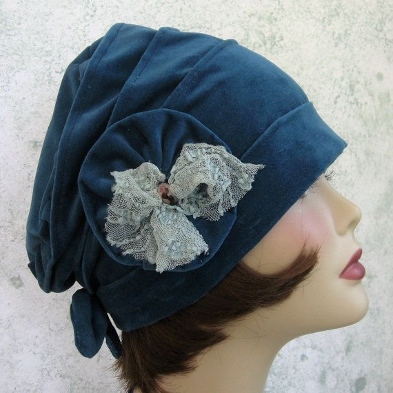 Womens Flapper Hat Cloche Pattern With Bow And Flower Trim PDF Easy To Make.