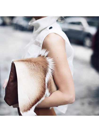 { The Prettiest Instagrams We Saw This Week: Mary Seng's fur clutch | allure.com }