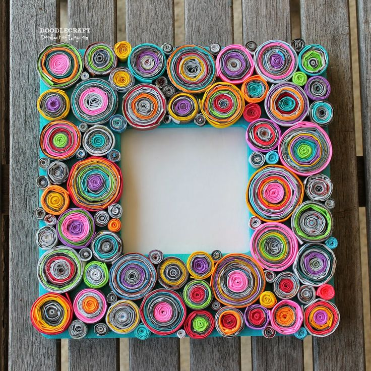 Upcycled Rolled Paper Frame! This is how you make this craft turn out awesome!