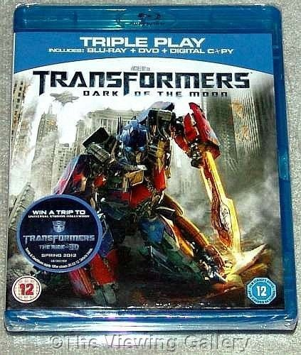TRANSFORMERS - DARK of the MOON triple play BLU-RAY and DVD Digital REGION B NEW