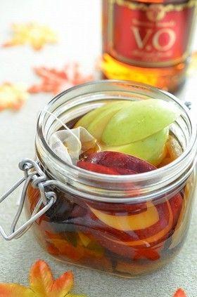 【赤&青林檎と干し芋、林檎の紅茶のフルブラ】今流行りのフルブラ、秋バージョンです。もうブランデーはおっさんの飲み物とは言わせない!