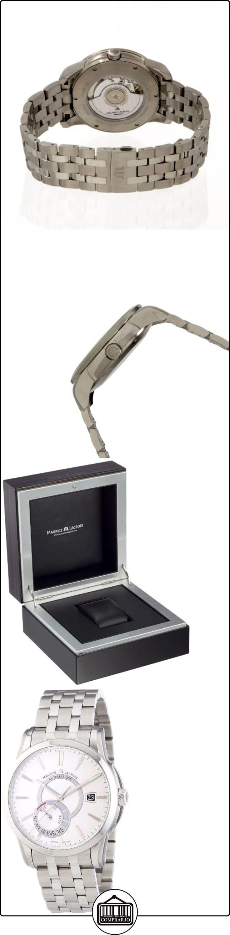 Maurice Lacroix  Pontos Reserve de Marche - Reloj de automático para hombre, con correa de acero inoxidable, color plateado  ✿ Relojes para hombre - (Lujo) ✿