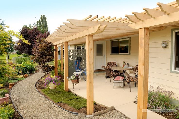 Cedar pergola & cedar pergola kits from ricksfencing.com.  Our custom cedar pergolas are sure to provide style & class to your yard based on our cedar pergola plans!