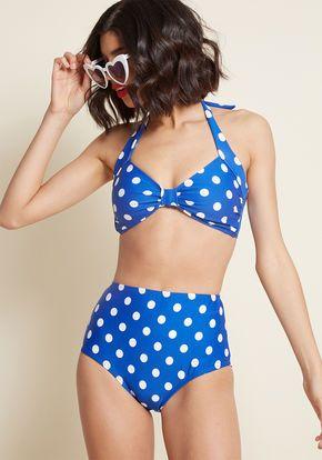 02bb4ef863a5b Beach Blanket Bingo High-Waisted Bikini Bottom in Gold Dot  Summer  Vibes
