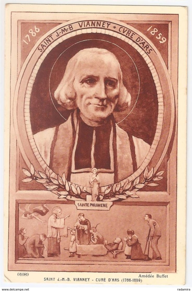 "Carte Postale Ancienne ""SAINT J.-M.-B. VIANNEY - CURE D'ARS"" - Amédée Buffet - Salon de Paris - France."