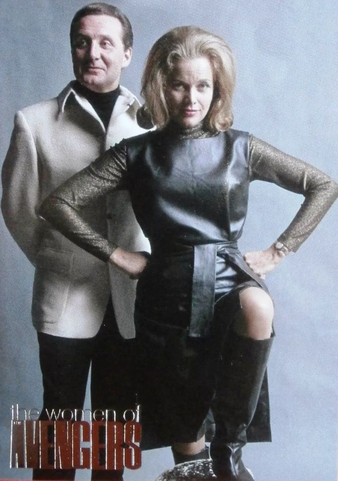 Cathy Gale and John Steed in The Avengers.