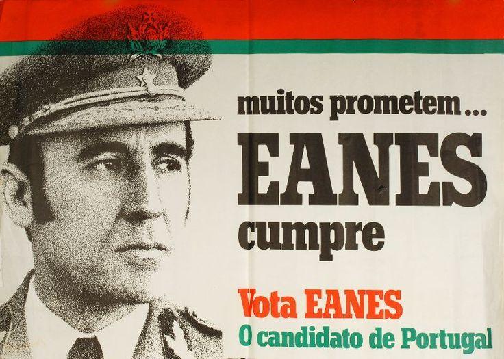 Cartaz da campanha de Ramalho Eanes à Presidência da República m 1976 DR