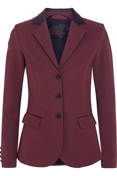 Burgundy stretch-crepe Button fastenings through front 72% nylon, 28% elastane; lining 100% nylon Dry clean Made in Italy