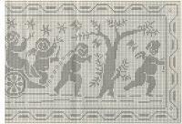 Schema per il filet: Pannello rettangolare con amorini