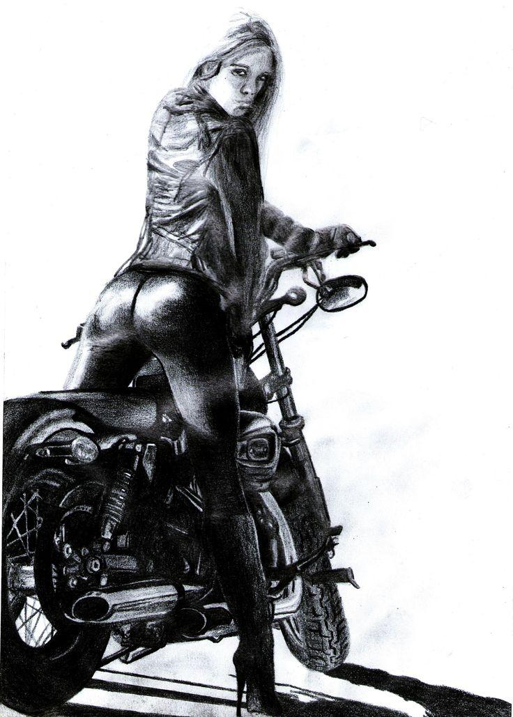 Motorcycle - 20 x 30 cm - pencil - 2012