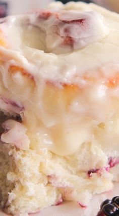 Blackberry Jam Sweet Rolls with Cream Cheese Frosting