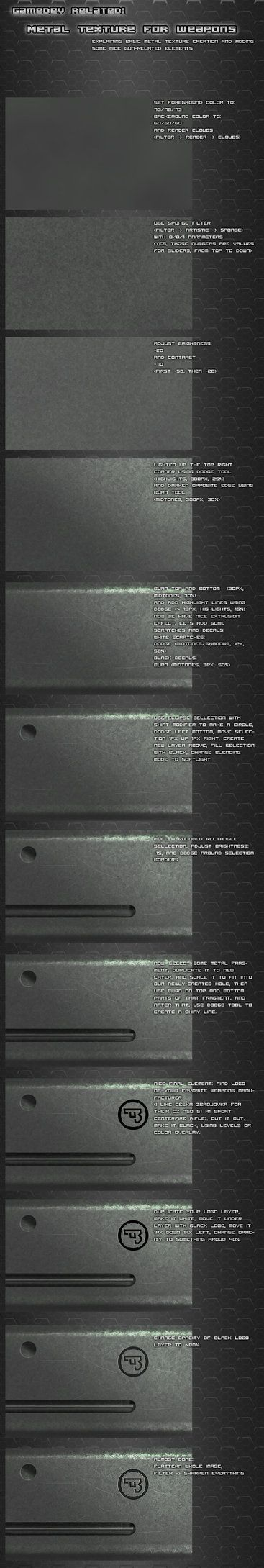 Metal texture tutorial by Pirosan on deviantART
