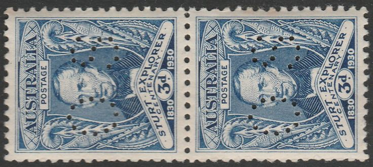 KGV 1914 - 1936 3d Charles Sturt Perf OS Verticle Pair MUH. Find more KGV 1914 - 1936 at Stamp Shop