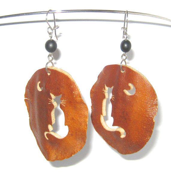 Halloween Cat Lovers Jewelry Dangle Pumpkin by GimmeeDatBling  SOLD!