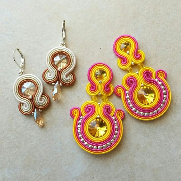 Splash of color or toned jewelry? Soutache jewelry | Soutache earrings | Handmade earrings | Christmas Gift