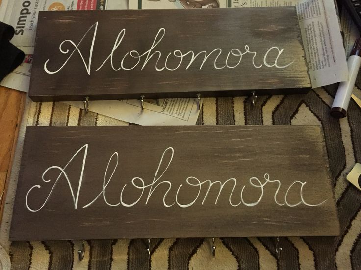I made these Alohomora key holders after seeing it on Pinterest, I love it!