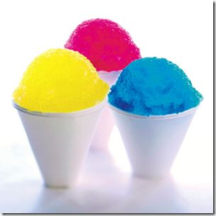 Home Made Snow Cone Syrup - 4 cups sugar can use Splenda 2 cups water 2 packages Kool-Aid of your desired flavoring for example- 1 T. coconut extract Br...