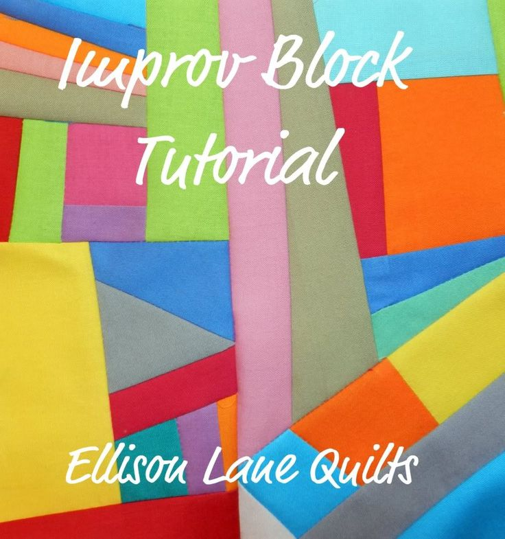 !Sew WE Quilt!: Guest BLOCKER today is Jennifer with Improv Piecing Tutorial to make an improv block