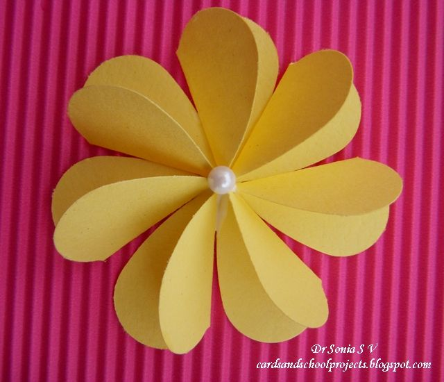 Cards Crafts Kids Projects Flat Folding Heart Punch Flower