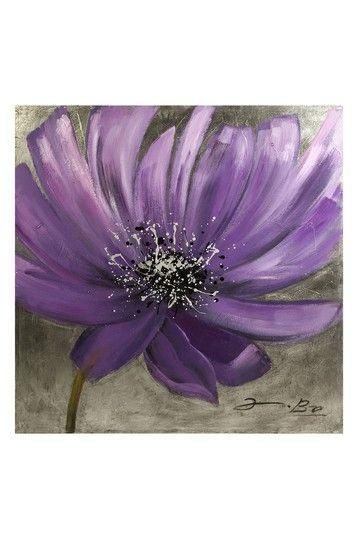 Purple Flower Oil Painting