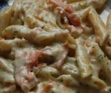 Rezept Variation von All-In-One Nudeln in Lachs-Sahnesauce von Baisy - Rezept der Kategorie Hauptgerichte mit Fisch & Meeresfrüchten