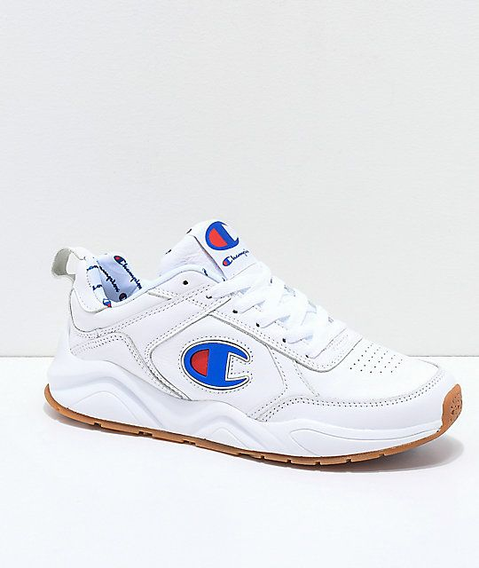 b9fe885b832bbe Champion 93 Eighteen Big C White Leather Shoes in 2019