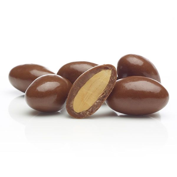 South Australian Dry Roasted Almonds coated in pure Milk Chocolate.