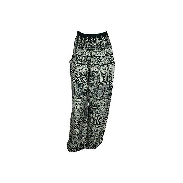 HAREM TROUSERS ALADDIN HIPPIE PANTS with 18 DIFFERENT DESIGNS ($20) ❤ liked on Polyvore featuring pants, hippy harem pants, dark green pants, hippy pants, hippie pants and harem pants