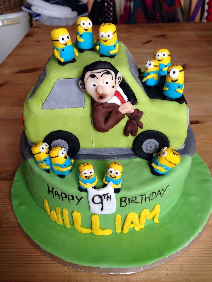 Mr Bean Amp Minions Cake 1 Sliki Mr Bean Cake Cake Mr Bean