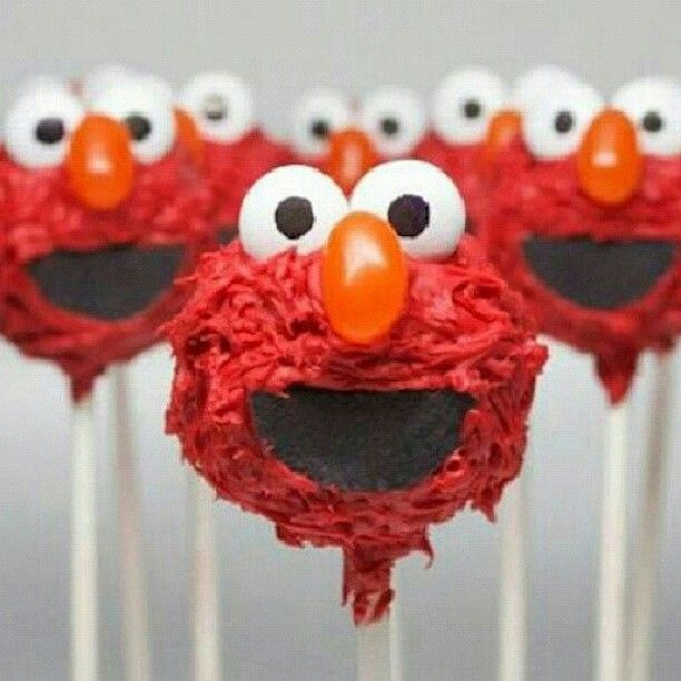 Elmo Cake Pops Food Pinterest Cake Pop Cakes And