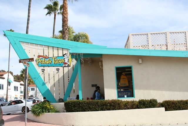 Pedro's Tacos, San Clemente, California.God how we miss those bean and potato burrito's.