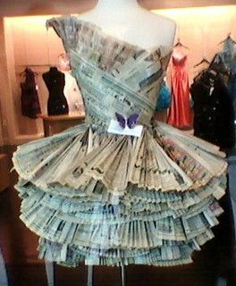 Paper Prom Dress by ronijj, via Flickr