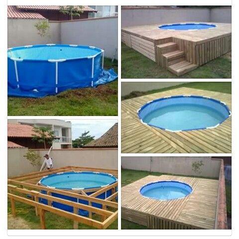 25 melhores ideias de piscinas de plastico no pinterest for Material para piscina