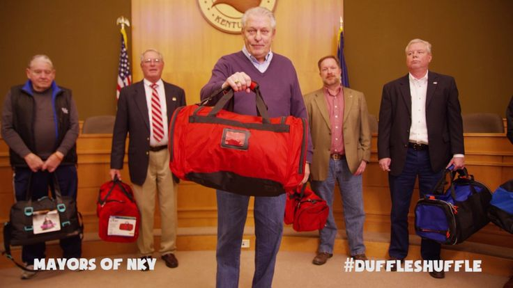 City of Taylor Mill! Your Mayor, Dan Bell, has challenged you to participate in the #DuffleShuffle to donate bags for our kids at the Children's Home of Northern Kentucky! The City of Taylor Mill building is also serving as a drop off location for duffle bags!