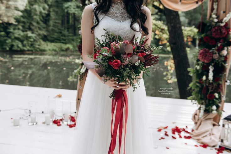 Букет невесты свободной формы #букет #букетневесты #марсала #свадебныйдекор #bouquet #bride