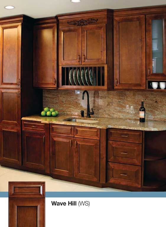 Perfect style and stain kitchen cabinets for a Northern CA home on the coast.   Buy Bathroom Cabinets & Bathroom Vanity Cabinets Online | Kitchen Cabinet Kings