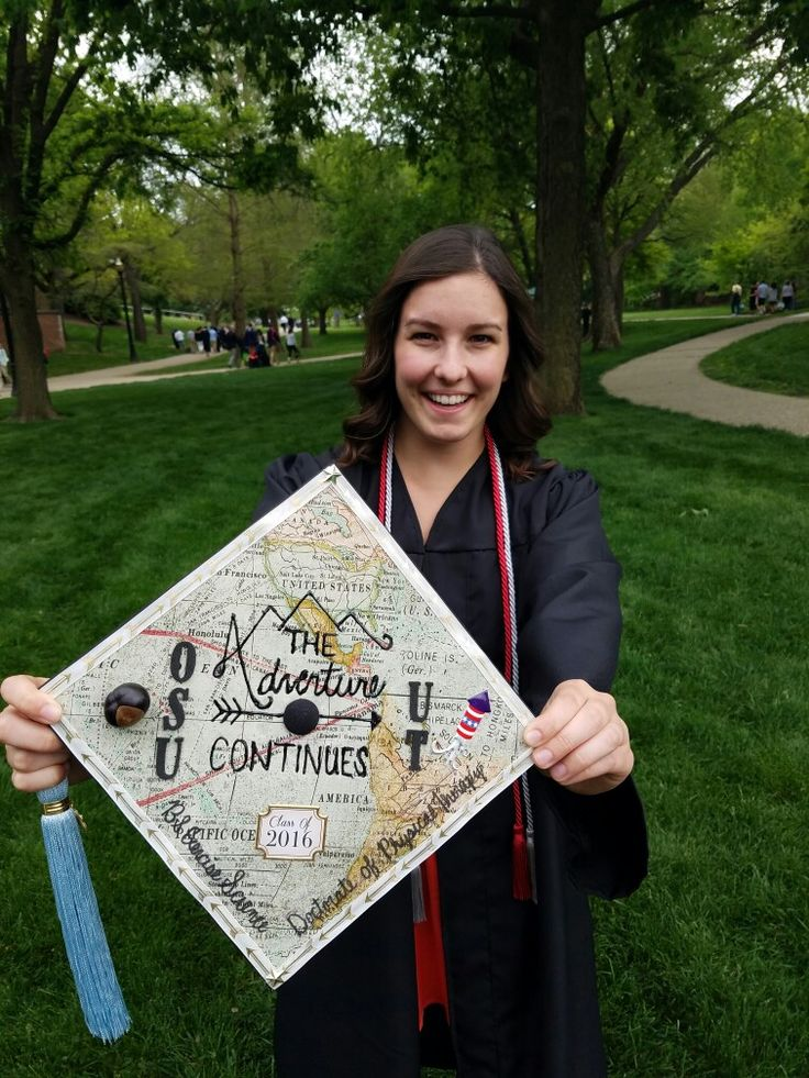 My graduation cap! #OSU #Adventure #ExerciseScience #PhysicalTherapy