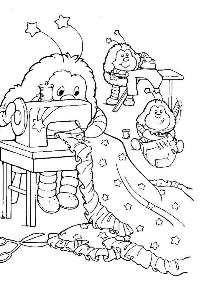 135 best Rainbow Brite Coloring Pages images on Pinterest ...