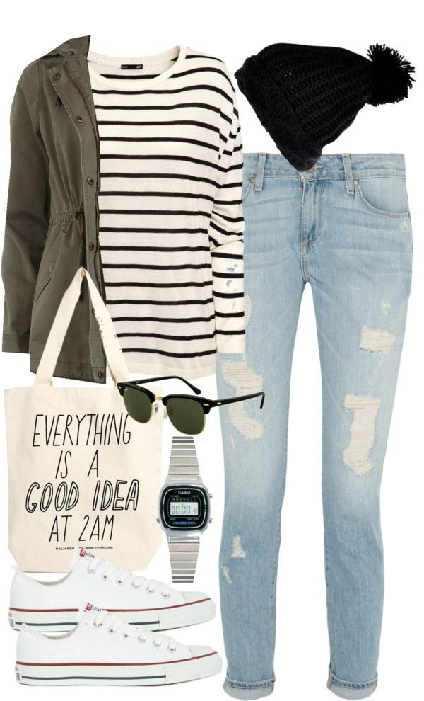 styleselection: outfit for university in autumn by im-emma featuring rayban…