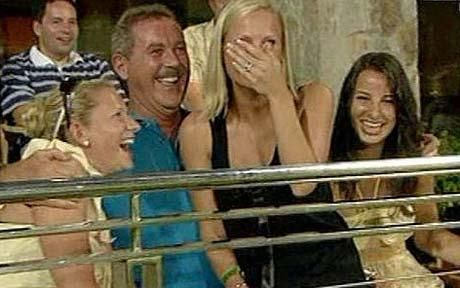 Sir Allen Stanford enjoyed himself a little too much with the England players' wives while the men toiled away on the pitch
