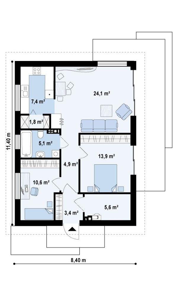 Проекты домов до 100 м и проекты коттеджей до 100 м   DOM4M.RU