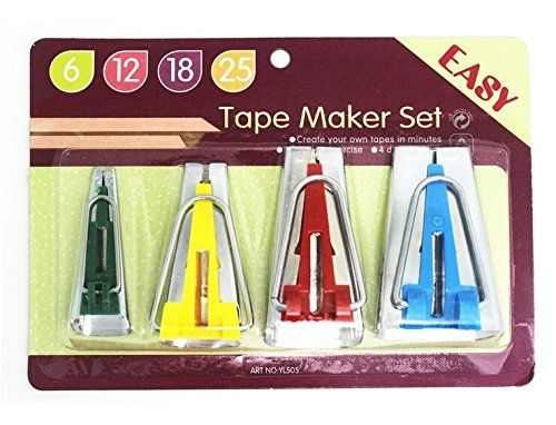 YEQIN Set Of 4 Size Fabric Bias Tape Makers Set 6MM 12MM ...