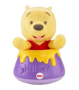 Disney Baby Roly Poly Peek-a-Pooh, Winnie The Pooh Baby's movements are becoming more precise. She is developing the ability to master new fine motor skills, and thanks to her growing dexterity, she can pick a raisin off the floor.