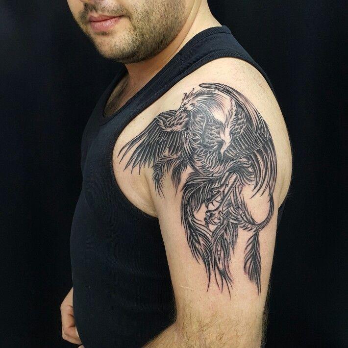 Phoenix tattoo anka dövmesi zumruduanka anka tattoo kol dövmesi bodrum tattoo bodrum dövme ali yuksel ali baba tattoo bodrum tattoo