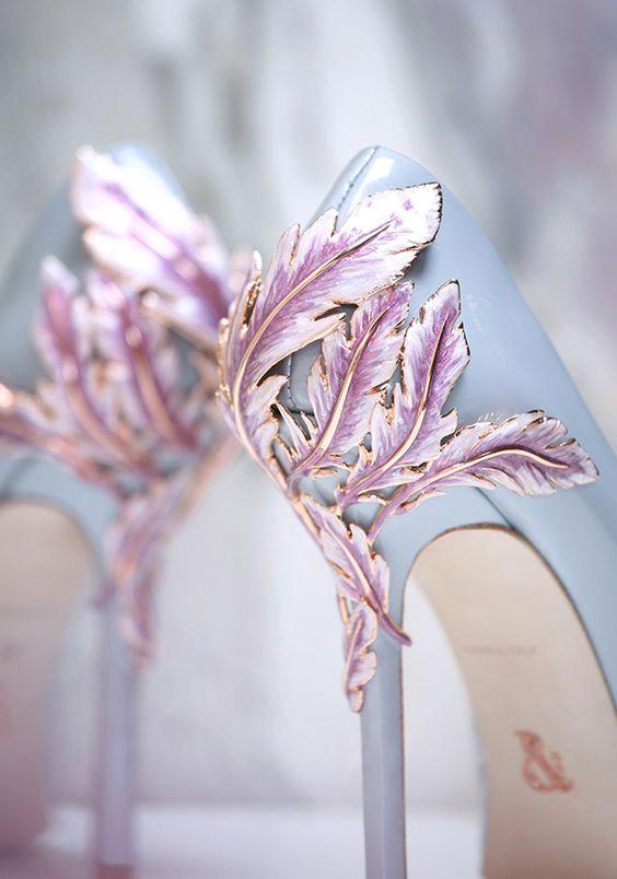 Blue Purple Wedding Shoes / http://www.himisspuff.com/pretty-wedding-shoes/2/