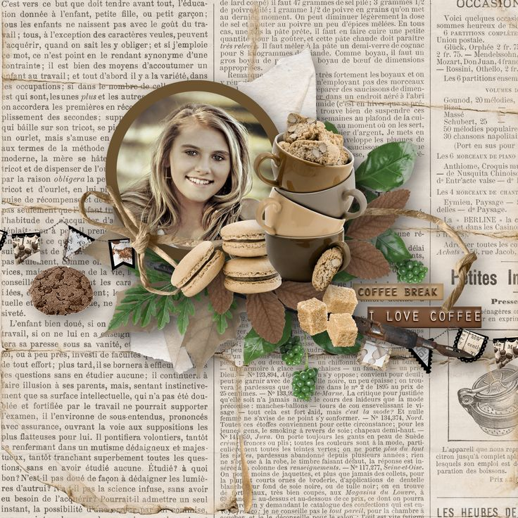 """""""Coffee break"""" by Celinoa's Designs, http://digital-crea.fr/shop/index.php?main_page=product_info&cPath=155_332&products_id=26218, photo Cheryl Holt, Pixabay"""