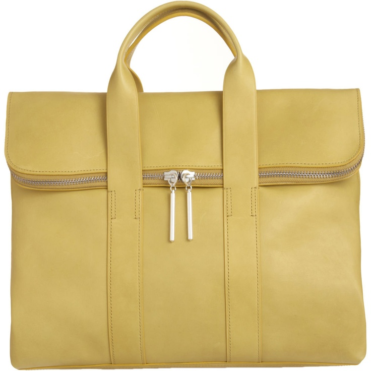 Pale yellow really impractical delicious briefcase by phillip lim