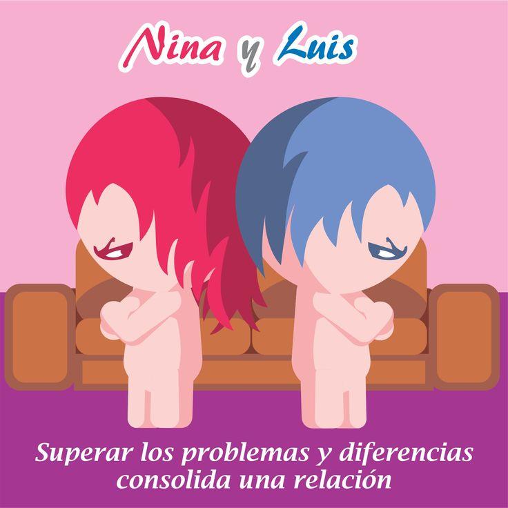 Nina y Luis, superar problemas de pareja, peleas de pareja, reconciliaciones, dibujos tiernoshttp://ninayluis.com/los-6-problemas-mas-comunes-de-las-parejas-y-como-superarlos/