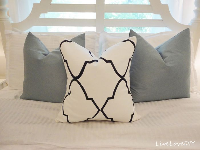 DIY Sharpie Projects • Lots of really great ideas & tutorials! Including this diy stencil sharpie pillow project from 'live love diy'.