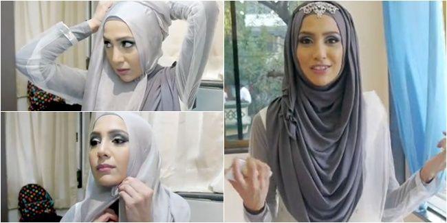 Vemale.com - Tutorial hijab pesta praktis, cocok untuk Anda yang sedang belajar tampil cantik berhijab.